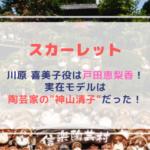 【朝ドラ】スカーレットの川原 喜美子役は戸田恵梨香!実在モデルは陶芸家の神山清子(こうやまきよこ)だった!