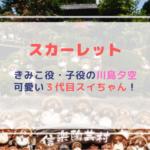 【スカーレット】きみこ役・子役の川島夕空(ゆあ)は3代目スイちゃん!